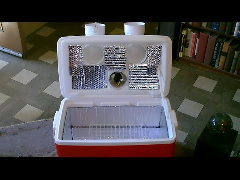 DIY Air Cooler! Ice-Chest AC! w/extra insulation! Dual Vents! 2x fan! Easy DIY (1 min QV)