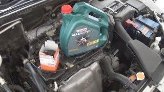 Замена масла в Mitsubishi Lancer 9