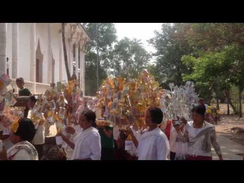 Cambodian people follow Buddhism