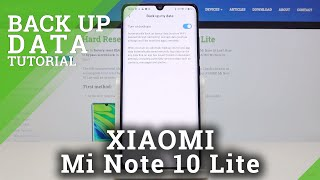 Como ativar o Backup do Google no XIAOMI Mi Note 10 Lite - Copiar e salvar arquivos