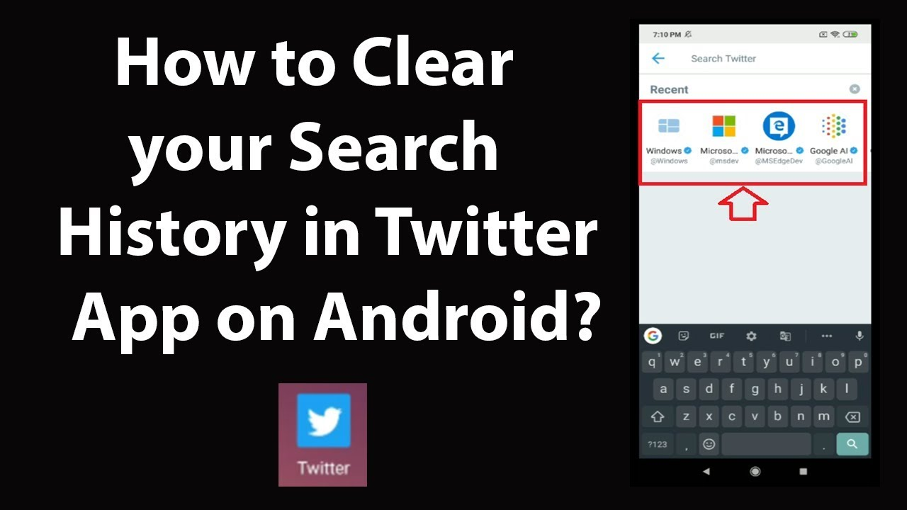 How to Clear your Search History in Twitter App on Android?