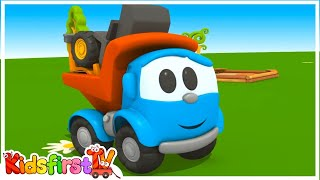 Toy Trucks - MEET LEO JUNIOR! Tutitu style Kid's 3D Educational Construction Cartoons for Children