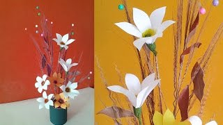 DIY Projects : Best Out of Waste Idea for Home Decoration Using Dried Leaves & Broomstick