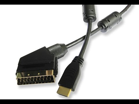 tutorial hdmi in scart umwandeln oder scart in hdmi umwandeln youtube. Black Bedroom Furniture Sets. Home Design Ideas