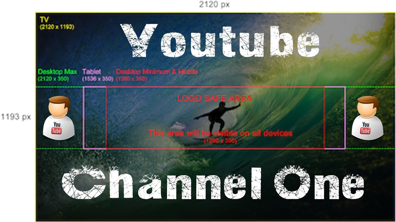 How To Create Channel Art For The New Youtube One Channel ...