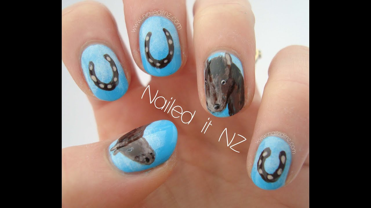 Horse nail art tutorial horse nails part two youtube prinsesfo Choice Image