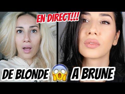 DE BLONDE A BRUNE !! EN DIRECT !!