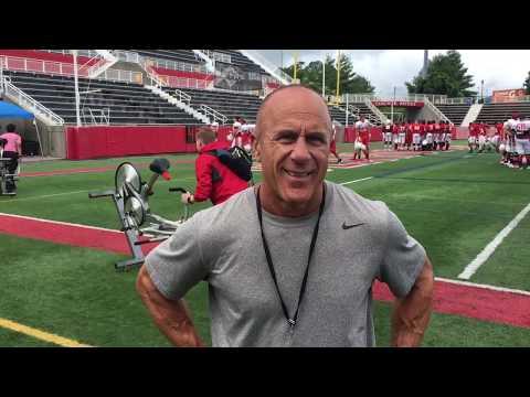 Head football coach Chuck Priore