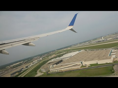 United Airlines Boeing 737-800 w/ WINGLETS SUNNY Takeoff + Taxi from Chicago O'hare Airport (ORD)