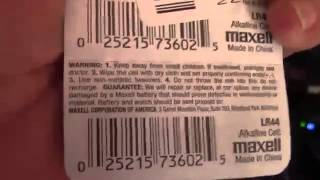 Maxell LR44 Batteries 10 Pack Review