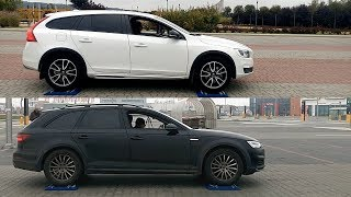 Volvo V60 Cross Country AWD vs Audi A4 Allroad Quattro - 4x4 test on rollers