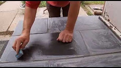 How to lay slate floor tiles
