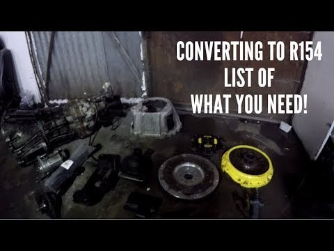 Soarer 1JZ - Converting to R154 manual gearbox - List of whats needed