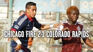 Chicago Fire 2, Colorado Rapids 1 | Highlights February 19, 2014