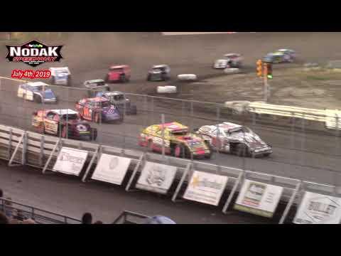 Nodak Speedway IMCA Sport Mod A-Main (7/4/19)