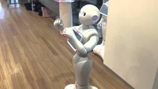 日産の接客ロボット「pepper」 ブンブンpepper