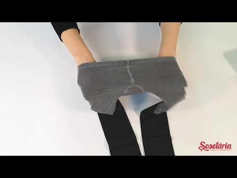 Prezentare ciorapi fete melanj cu model catel Knittex Frenchie 50 den