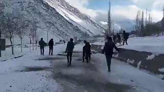 Boys Scout Group Gulmit Gojal Clearing KKH Road For Public Transportation After Heavy Snowfall