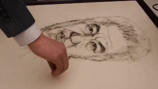 «Чала-спортик», «Ну, погоди!» и Путин. Баткенский барбер создает портреты из волос