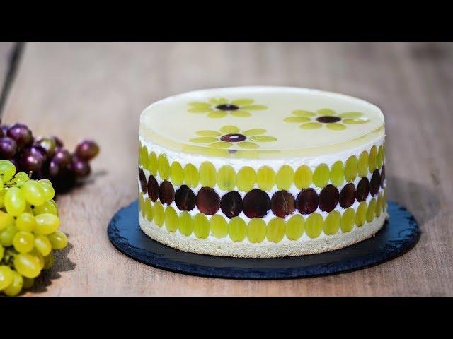 Изображение Муссовый торт с виноградом