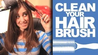 How To Clean Your Hair Brush + Hairbrush Tutorial! Beauty Product Cleaning Ideas (clean My Space)