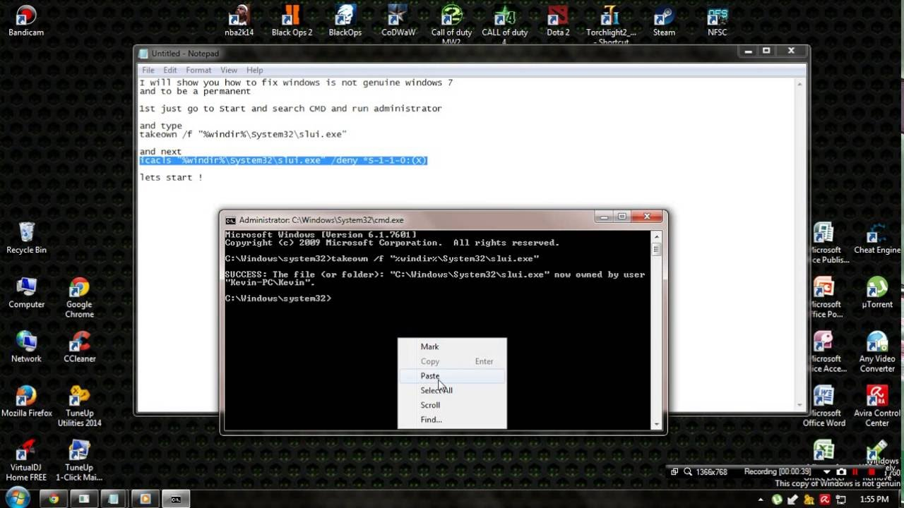 how to fix windows is not genuine windows 7 build 7601 2015