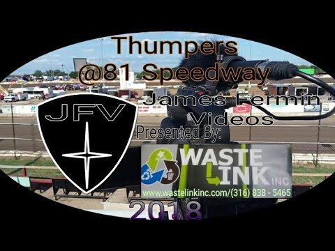 Thumpers #17, Heat 2, 81 Speedway, 2018