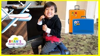Family Fun Trip Airplane to California! Kid Plays Hide N Seek in Hotel Playtime Ryan