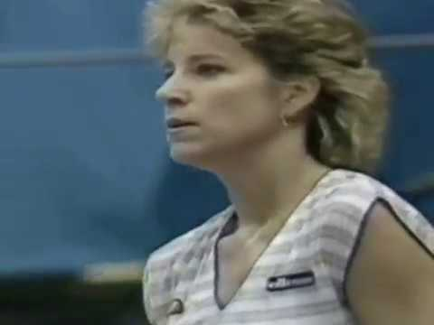 1985 Brighton QF Chris Evert vs. Lindqvist Pretty Polly Classic tennis (Part 2)