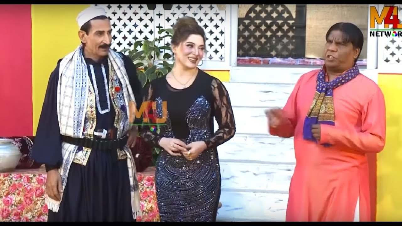 Iftikhar Thakur and Khushboo with Amanat Chan | Stage Drama Talli Ho Gaya | Stage Comedy Clip 2019