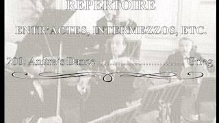 White Star Line Music ✯ REPERTOIRE ENTR'ACTES, INTERMEZZOS, ETC. 20...
