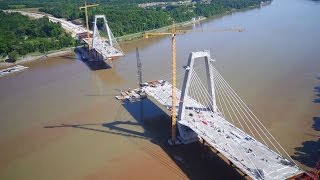 The East Bridge is part of the Louisville-Southern Indiana Ohio Riv...