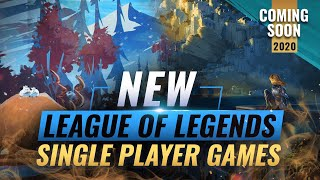 HUGE UPDATE: NEW LEAGUE OF LEGENDS SINGLE PLAYER GAMES COMING IN 2020 - RIOT FORGE