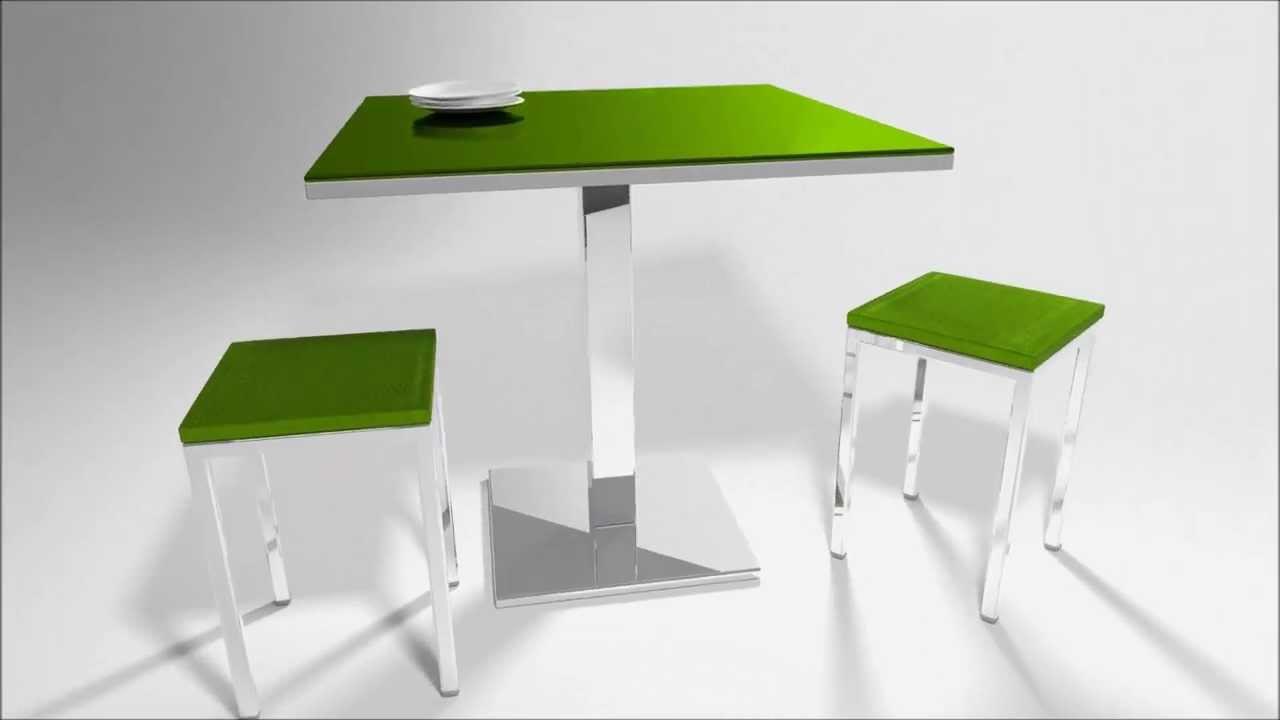 Mesa de cocina peque a de vimens modelo quatro youtube - Mesa cocina pequena ...