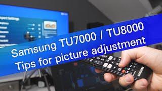 Samsung TU7000 TU8000 TU8500 2020 TV picture settings