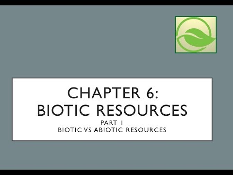 Ecological Economics: Chapter 6 Biotic Resources - Part I