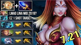 PURE DAMAGE Scepter Lina Mid vs Pro PA Even BKB Can