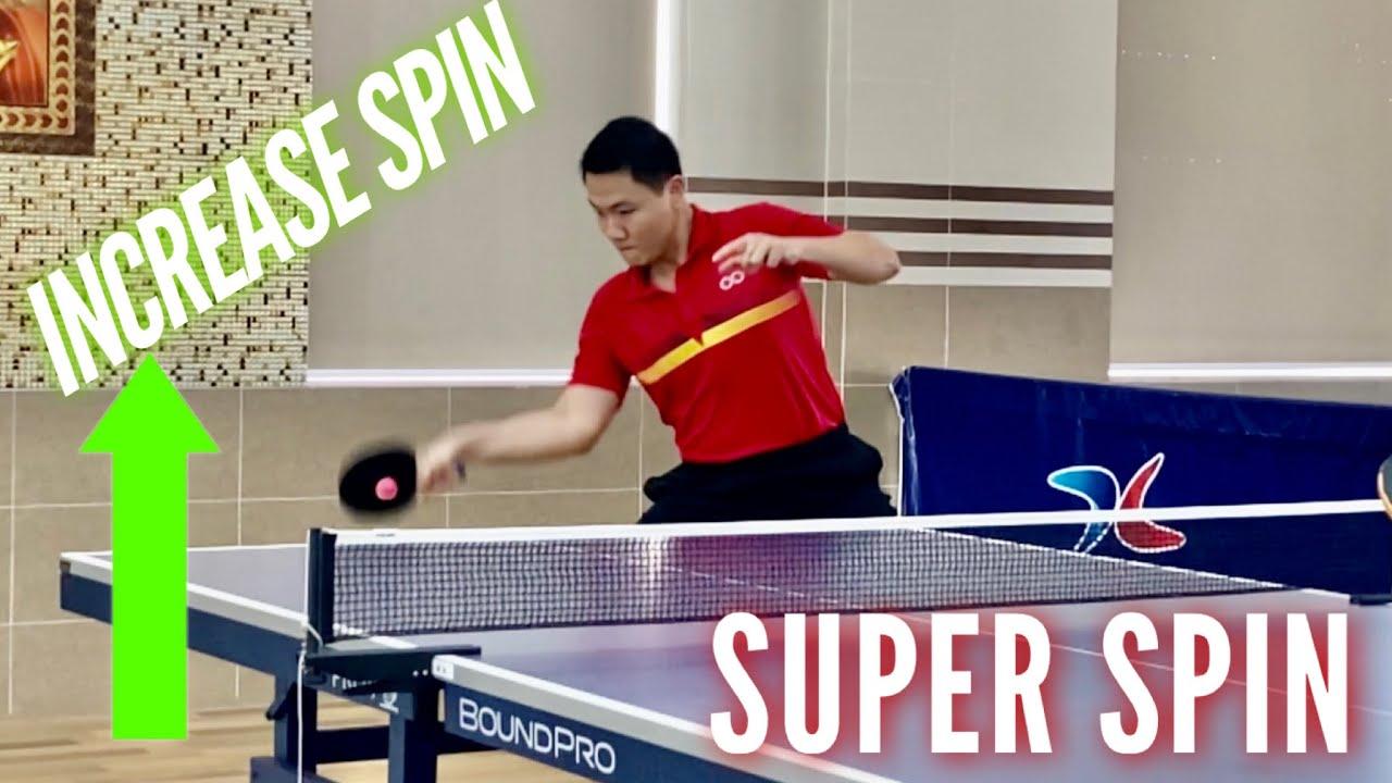 Forehand Super Loop To Increase High Spin Against BackSpin | Giật siêu xoáy bóng bàn