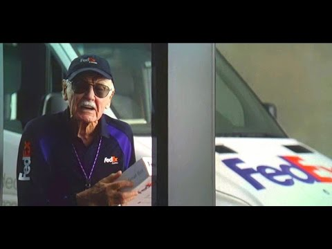 Stan Lee Cameo - FedEx courier (Captain America Civil War)