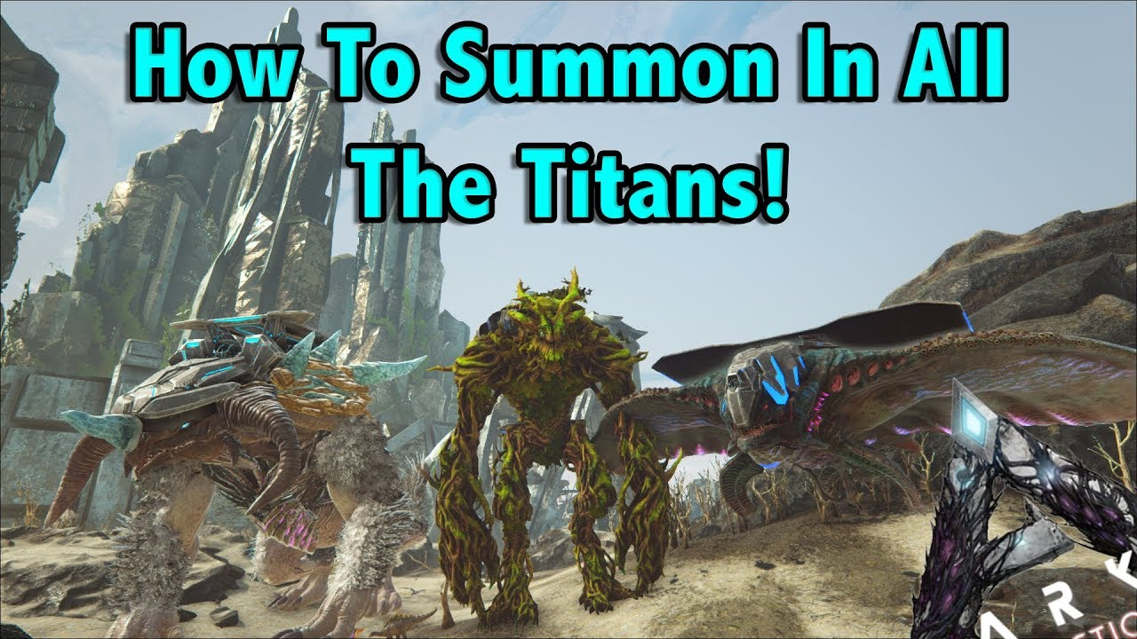 HOW TO SPAWN IN ALL THE TITANS USING ADMIN COMMANDS IN ARK EXTINCTION!!