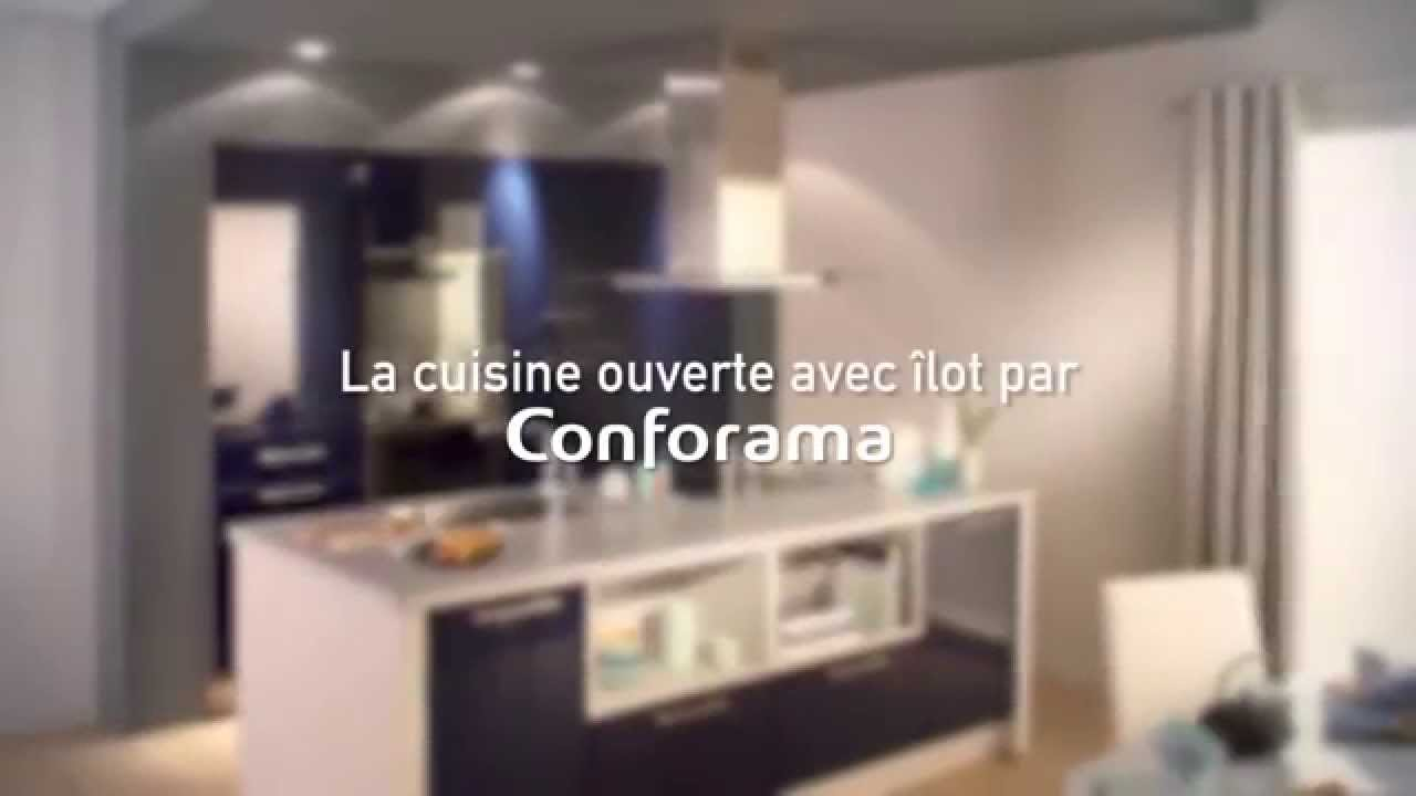 la cuisine ouverte avec lot latino conforama youtube. Black Bedroom Furniture Sets. Home Design Ideas