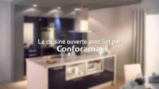la cuisine ouverte avec ilot latino conforama