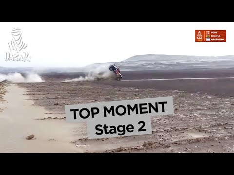 Top Moment - Bryce Menzies crashes - Stage 2 (Pisco / Pisco) - Dakar 2018