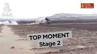 Top Moment - Bryce Menzies crashes - Stage 2 (Pisco / Pisco) - Dakar 2018