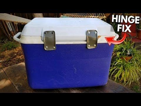 Fix Broken Cooler Hinges. Ice Chest Hinge Repair. Cheap & Easy! -Jonny DIY