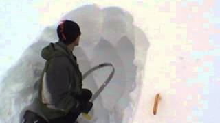 How to build a snow cave *fast* with the Cave Carver from SnowSaw.com thumbnail