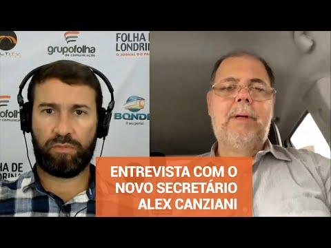 Entrevista com ALEX CANZIANI novo Secretário de Governo de Londrina