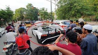 India's FIRST Lamborghini Aventador w/ SV KIT  Reactions!!! - Hyderabad(INDIA)!