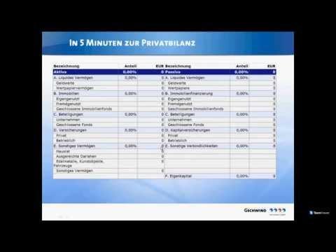 In 5 Minuten zur Privatbilanz - In 15 Minuten zur ersten Beratung