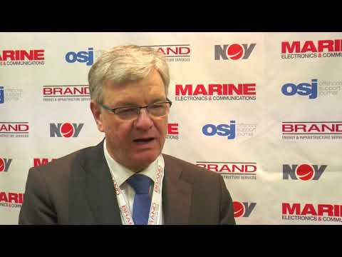 Voith Turbo's  Dirk Juergens at the 2018 European Dynamic Positioning conference